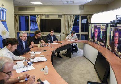 El presidente Alberto Fernández evaluó la situación en las provincias con gobernadores
