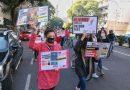 Trabajadores de deliverys cortaron Pellegrini contra los despidos