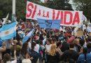 Masiva marcha contra el aborto legal en Rosario