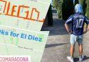 Corrió 10 kilómetros para homenajear a Maradona