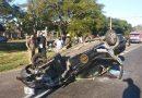 Grave choque entre dos autos en Circunvalación y Ayacucho