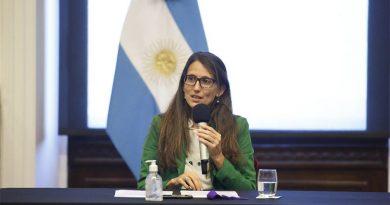 """Gómez Alcorta pidió """"compromiso social para vivir en una sociedad libre de violencia""""."""