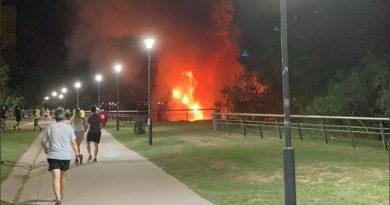Incendio en la costa central: se prendió fuego una vivienda de la barranca