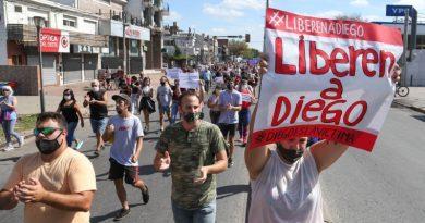 Nueva marcha en Fisherton por la liberación de Diego, el joven que atropelló y mató a dos delincuentes