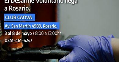 La provincia de Santa Fe avanza en el plan de desarme voluntario en Rosario