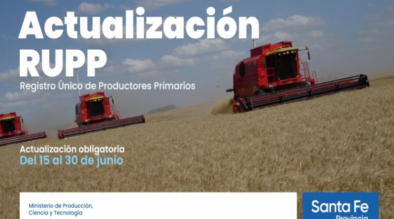 La provincia convoca a productores a actualizar sus datos en el registro único de producciones primarias