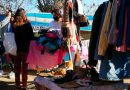 Reciben en el Obelisco ropa de abrigo para roperos solidarios