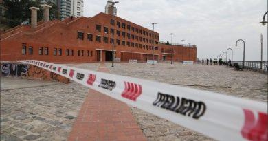 Parque España: clausura y advertencia por posibles nuevos desprendimientos por la bajante del río