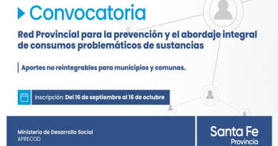Convocan a municipios y comunas a presentar proyectos sobre prevención de consumos problemáticos