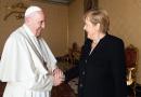 """Para Francisco, Merkel """"es una de las grandes líderes que pasará a la historia"""""""